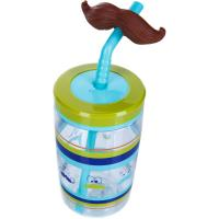 Детский стакан Contigo Funny Straw Electric Blue Mustache 1000-0521
